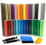 ORACAL 651 Glossy Adhesive Vinyl Multi-Roll Choose from 47 Colors 12'' x 5ft Includes 3M Wrap Toolkit 2 Squeegees, 2 Felt Safety Edge (47 roll, 1 of each)