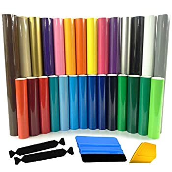 Image of Adhesive Vinyl ORACAL 651 Glossy Adhesive Vinyl Multi-Roll Choose from 47 Colors 12' x 5ft Includes 3M Wrap Toolkit 2 Squeegees, 2 Felt Safety Edge (47 roll, 1 of Each)