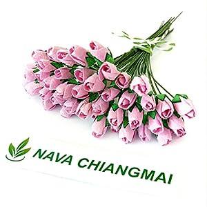 NAVA CHIANGMAI Mini Rose Bud Mulberry Flower Paper, Wedding Flowers, Wedding Decoration Artificial Flowers Crafts,Mulberry Flowers, Paper Rose Buds, DIY Bouquet, Scrapbooking Flowers 61