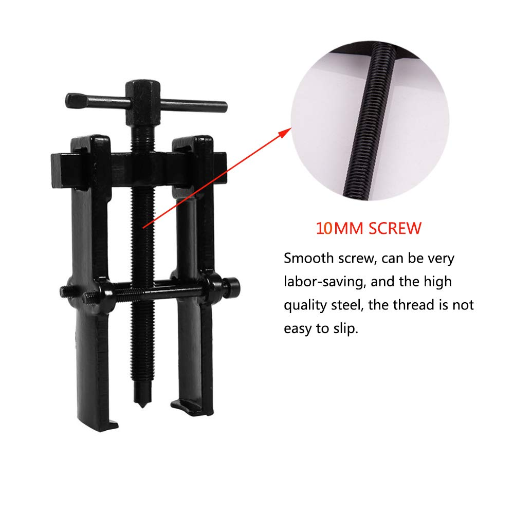Two Jaw Gear Puller Carbon Steel 2 Arm Gear Puller Remover Bearing Disassemble Tool for Gears Pulley Flywheel 2.5inch(3545)