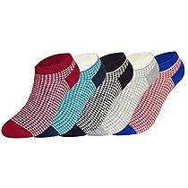 FULIER Womens Low Cut Cute Colorful Design Cotton Ankle Liner Socks