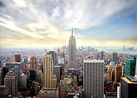 wall mural skyline new york wallpaper cityscape 254x183cm