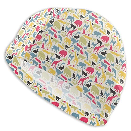 VANMASS Boys Girls Women Men Swim Cap, Animals Australia Fauna Jungle Nature Swimming Caps Great Elasticity Ear Protection Breathable Fit Both Short and Long Hair