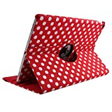 Case for 9.7 inch iPad 2018 2017/iPad Air/iPad Air 2, PU Leather 360 Rotating Multi-Angle Viewing Stand Protection Case Cover for iPad 9.7 inch (6th Gen,5th Gen)/iPad Air/iPad Air 2 - Red