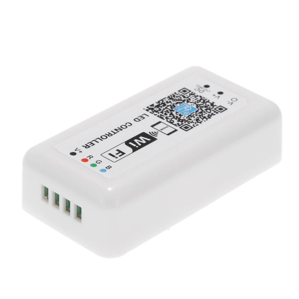 Docooler Controlador WiFi 12V-24V LED RGB Para la luz de tira La Luz LED RGB / Bulbo 3 Canales de Control de Telé fonos Inteligentes