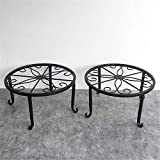 Echotang Metal Flower Shelf Space Saved Flower Rack for Indoor Sitting Room Balcony, Pack of 2