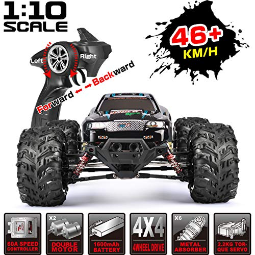 RC Car Remote Control Car Large Scale 1:10 46km/h RTR RC Monster Truck Dual Motor 4WD for Adults & Kids