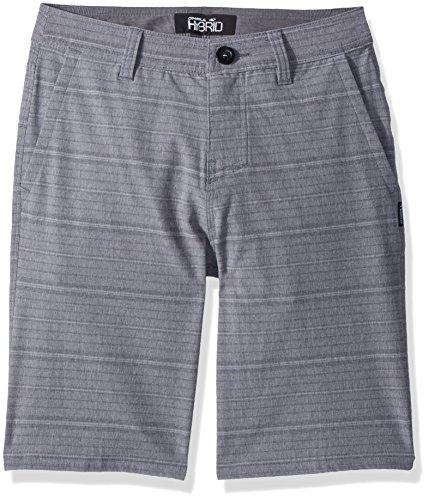 O'Neill Big Boys Locked Stripe Hybrid Short, Grey, 29