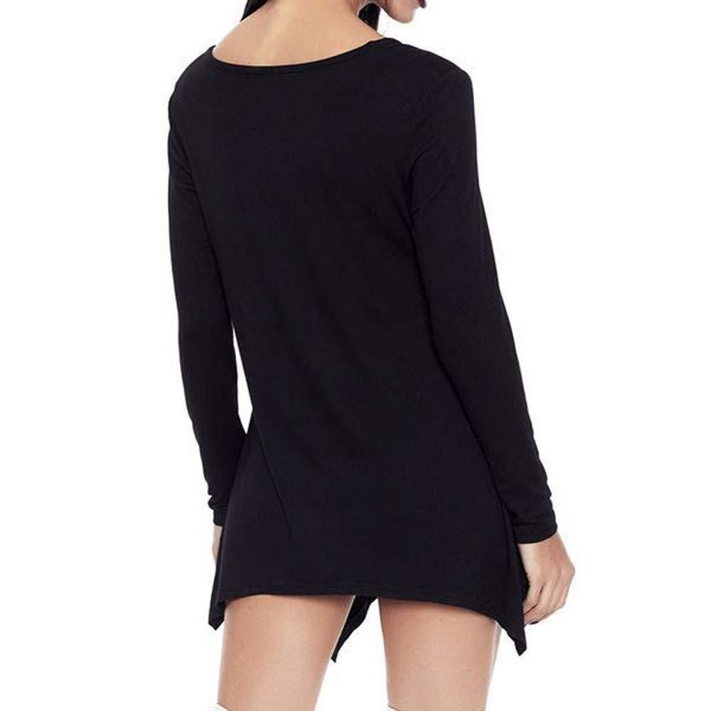 Luckycat Blusa con Cuello en V de Las Mujeres de Moda Blusa ...