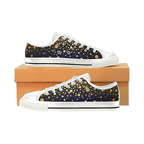 D-story Custom Gele Stippen Klassieke Damesschoenen Voor Dames Fashion Sneaker
