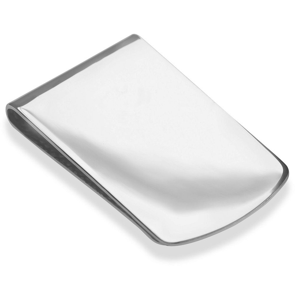 Sterling Silver .925 Money Clip, Solid Design, Engravable, Designed and Made In Italy. By Sterling Manufacturers by Sterling Manufacturers