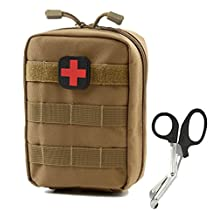 EMT Pouch - Compact Tactical MOLLE Medical Utility bag 900D - Free Bonus First Aid Patch And Shear