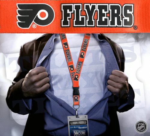 aminco NHL Philadelphia Flyers Clip Lanyard Keychain Id Ticket Holder - Orange
