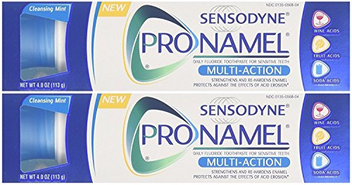 Sensodyne Pronamel Multi-Action Toothpaste Cleansing Mint, 4 Ounce (Pack of 2)