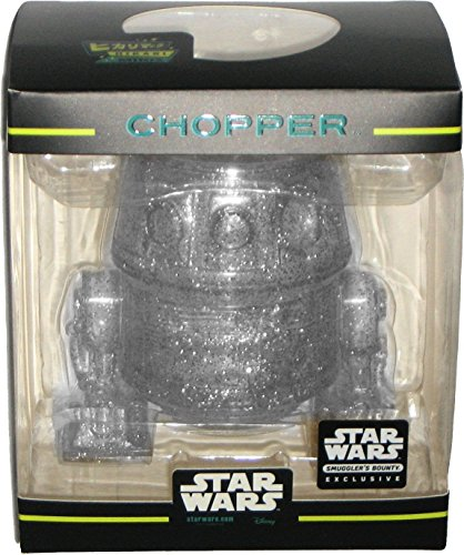 [Funko Hikari Minis White/Silver Glitter Chopper Droid Star Wars Rebels Smuggler's Bounty March 2017 Exclusive Vinyl] (Star Wars Chopper)