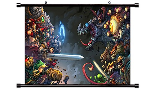 Battle Chasers Video Game Wall Scroll Poster  32X18  Inches