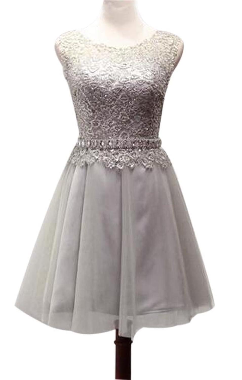 Eyekepper Greneck Lace Floral Bridesmaid Prom Ball Evening Dress