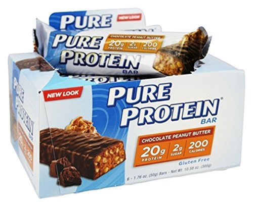 Pure Protein High Protein Bar, Chocolate Peanut Butter, 6 Bars (Pack of 8) , Pure-g9 Pure-x4 by Pure Protein