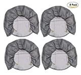 Best Bid Offer Tire Covers Set of 4 Waterproof Sun Protectors for Wheels Oxford Cloth Fabric for Auto Truck Car Camper 4 Pack (19-22inches)