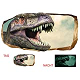 Startonight 3D Mural Wall Art Photo Decor Jurassic Dinosaur World Ii Amazing Dual View Surprise Large 47.24 Inch By 86.61 Inch Wall Mural Wallpaper for Bedroom Kids Collection Wall Art (Gray Blue 111)