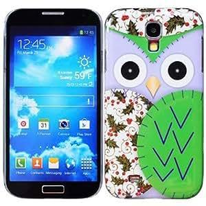 Semoss Funda de tpu búho broche de presión en funda Carcasa Para Samsung Galaxy S4 i9500 i9505 Verde