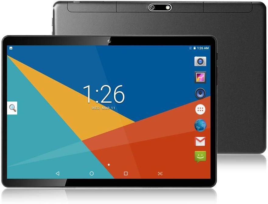 Tablet 10.1 inch,Android 8.1,Octa Core Processor,4GB RAM,64GB Storage,2MP+8MP Camera,1280X800 IPS Screen,GPS,WiFi,USB,Bluetooth(Black)