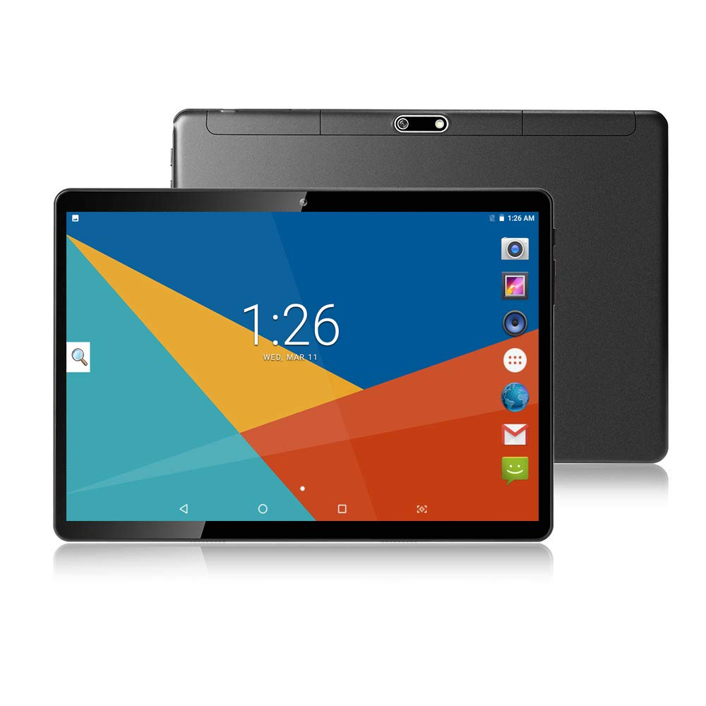 10 Inch Tablet Octa Core Android 7 0, 4GB RAM,64GB ROM,1280X800 IPS  Screen,8 0MP,Dual Sim,Wifi,GPS,Tablet For Kids-Black