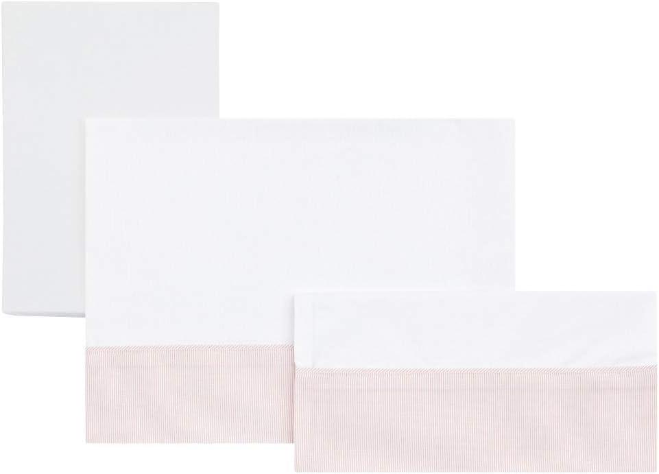 Cambrass Star 3 piezas color rosa Sabana para minicuna