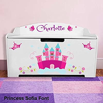 Personalized Dibsies Modern Expressions Toy Box - White