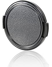 55MM Sides Pinch Snap-On Front Lens Cap/Cover Compatible with Canon, Nikon, Sony, Pentax All DSLR Lenses