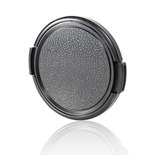 (CamDesign 49MM Sides Pinch Snap-On Front Lens Cap/Cover Compatible with Canon, Nikon, Sony, Pentax All DSLR Lenses)