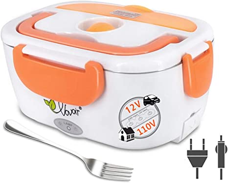 Amazon.com: Electric Heating Lunch Box, 110V/12V 2 in 1 Portable Electric  Food Warmer Lunch Heater for Car, Home, Office with Removable Stainless  Steel Food Container (orange): Kitchen & Dining