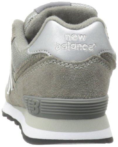 New Balance KL574 Pre Running Shoe (Little Kid) Grey/Silver