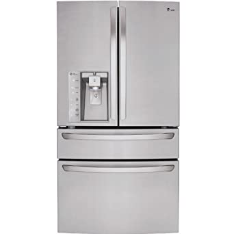 LG LMXS30746S French Door Refrigerator with 30 Cu. Ft. Capacity, in Stainless Steel