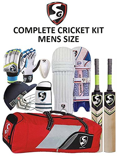 b141efed429 Amazon.com   SG Cricket Kit Pack - Super Saver English Willow Kit   Sports    Outdoors