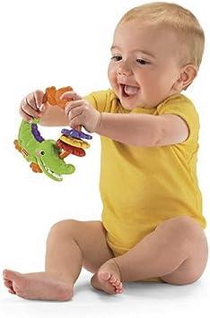 Fisher Price - Sonajero y Mordedor - Cocodrilo , color/modelo surtido: Amazon.es: Juguetes y juegos