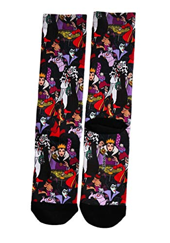 Adult Disney Villains Sublimated Socks - -