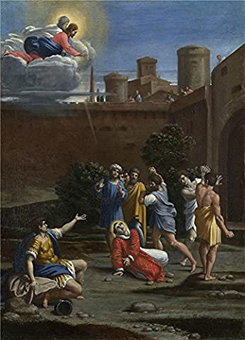 Polyster Canvas ,the Imitations Art DecorativePrints On Canvas Of Oil Painting 'Antonio Carracci The Martyrdom Of Saint Stephen ', 24 X 33 Inch / 61 X 85 Cm Is Best For Living Room Decor And Home Decoration And (Stephen White Private Practices)