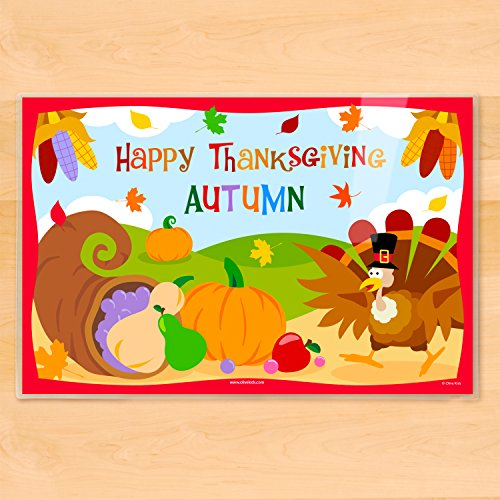 Olive Kids Happy Thanksgiving Personalized Placemat