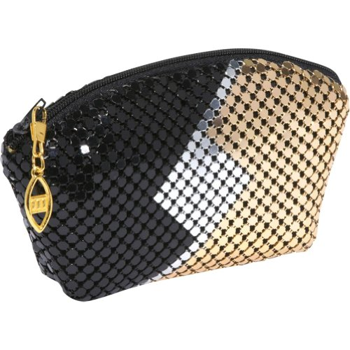 Magid Metal Mesh change purse (Black/Silver/Gold), Bags Central