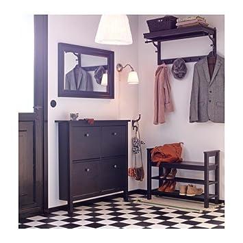 Schuhschrank ikea hemnes  IKEA HEMNES -Schuhschrank mit 4 Fächern schwarz-braun: Amazon.de ...