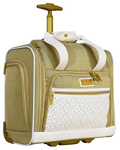 Nicole Miller Alexa Under Seat Bag Carry On (White)