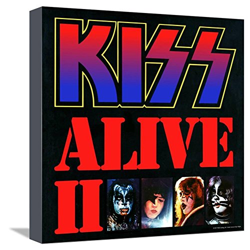 ArtEdge KISS - Alive II (1977), Stretched Canvas Print, 12x12 in