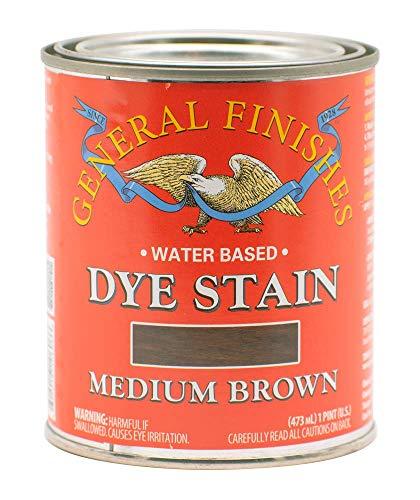 General Finishes Water Based Dye, 1 Pint, Medium Brown