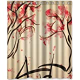 """Cool design Beautiful Cherry Blossom Tree,Japan Cherry Blossom art Shower Curtain 60""""""""(w) x 72""""""""(h) Generic Shower Curtain Liners"""