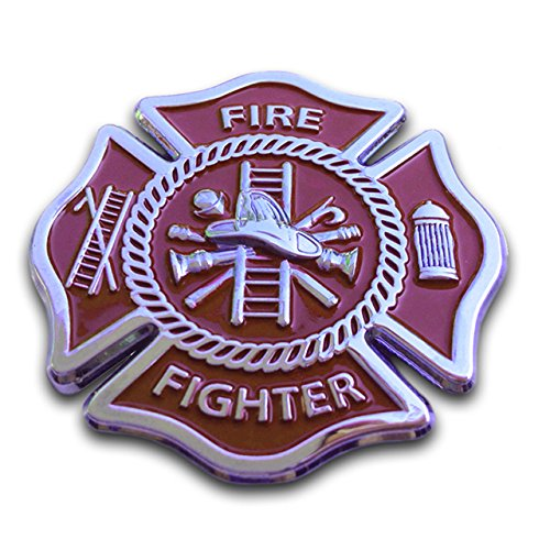 Firefighter Maltese Cross Sticker Emblem Decal for Car Truck Auto Metal (Firefighter Auto)