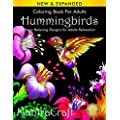 Coloring Book For Adults Hummingbirds Stress Relieving Designs For Adults Relaxation