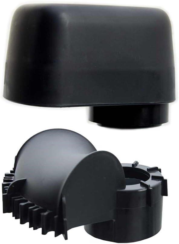 Capuchon de m/ât avec grande entr/ée de c/âble adapt/é aux supports de m/âts et chevrons SAT de 48 /à 60 mm de diam/ètre