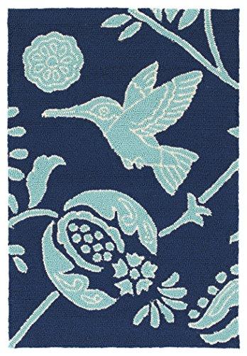 Kaleen Rugs Yunque Collection YUN04-22 Blue 2' x 3' Indoor/Outdoor, Handmade Rug (Robins Egg Blue Kitchen Rug)