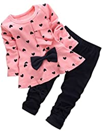 Adorable Cute Toddler Baby Girl Clothing 2pcs Outfits